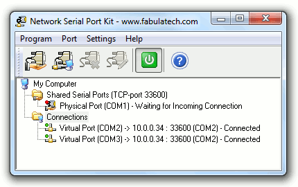 Network Serial Port Kit Screenshot 1