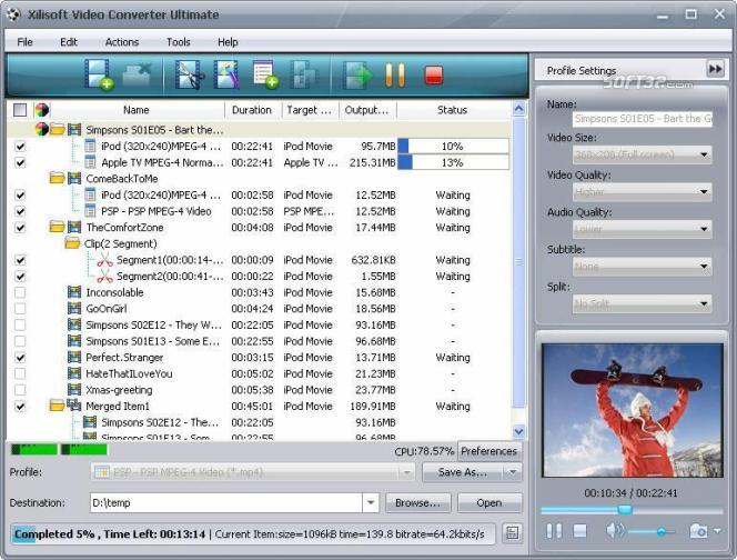 Xilisoft Media Toolkit Ultimate Screenshot 3