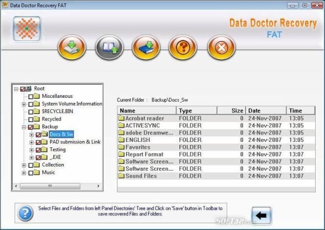 FAT Drive Data Recovery Software Screenshot 3