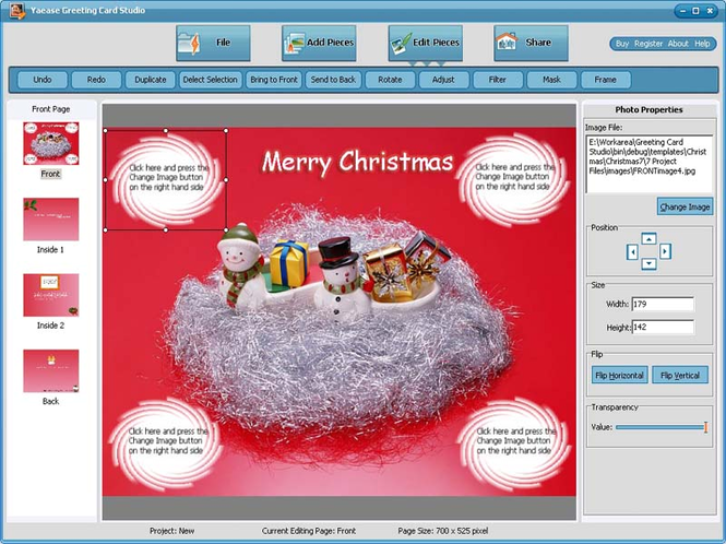 Yaease Greeting Card Studio Screenshot