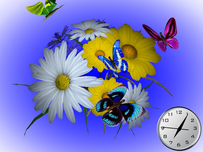 Wonderful Flowers 3D Screensaver Screenshot 1