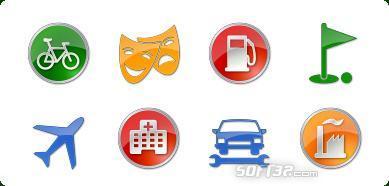 Icons-Land Vista Style POI Icon Set Screenshot 2