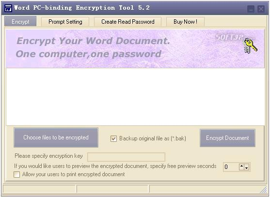 Word PC-binding Encryptor Screenshot 2