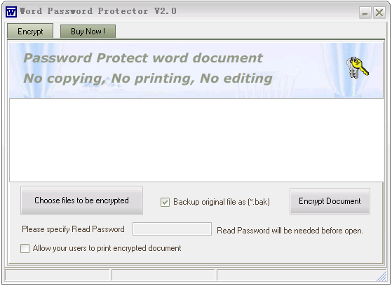 Word Password Protector Screenshot 1