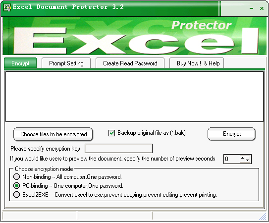 Excel Document Protector Screenshot