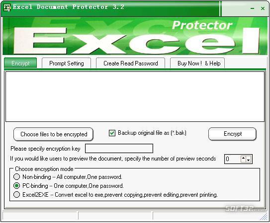 Excel Document Protector Screenshot 2