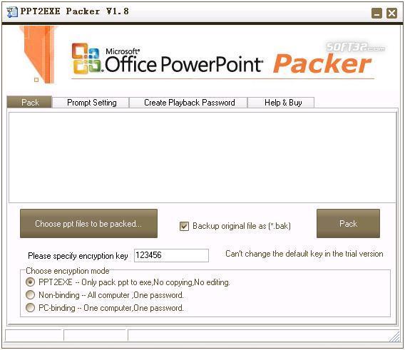 PPT2EXE Packer Screenshot 2