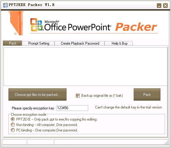 PPT2EXE Packer Screenshot