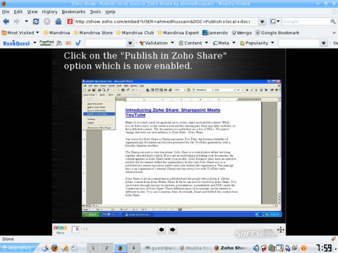 ZohoShare Plugin Screenshot 2