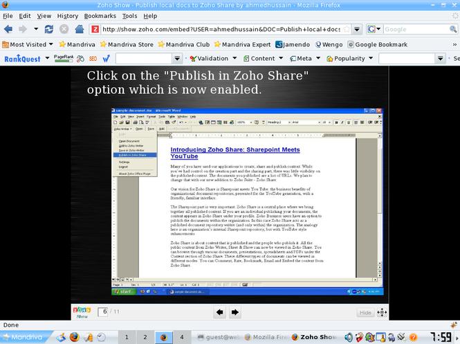 ZohoShare Plugin Screenshot 1
