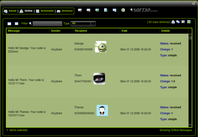 attenzoSMS Screenshot 2