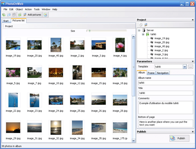 PhotoOnWeb Album Creator Screenshot