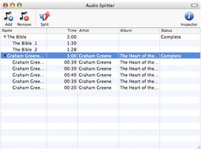 Macsome Audio Splitter for Mac Screenshot