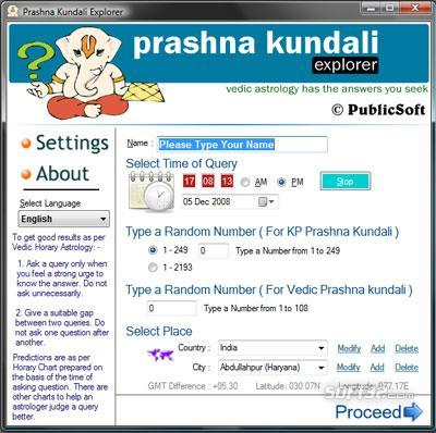 Prashna Kundali Explorer Screenshot 2