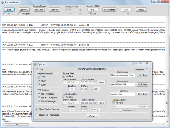 PacketViewer Screenshot