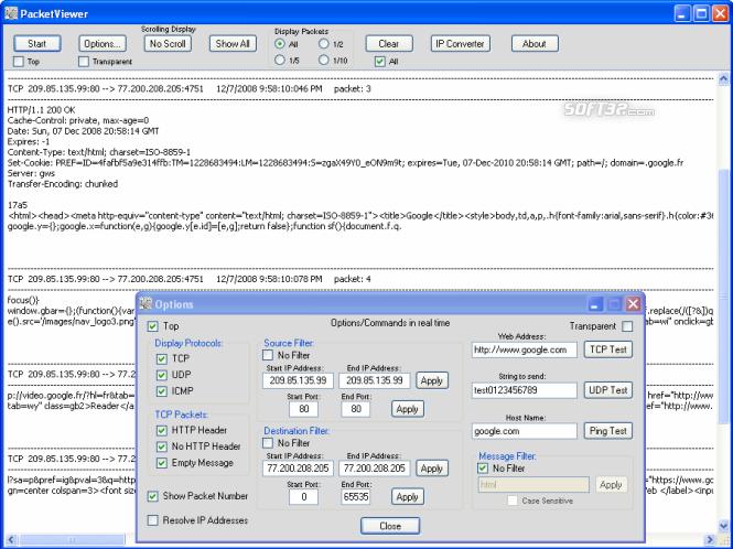 PacketViewer Screenshot 2