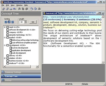 Intellexer Summarizer SDK Screenshot
