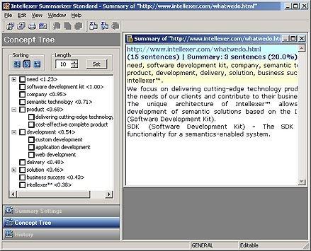 Intellexer Summarizer Pro Screenshot