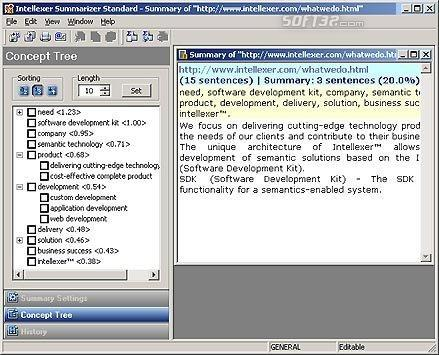 Intellexer Summarizer Pro Screenshot 2