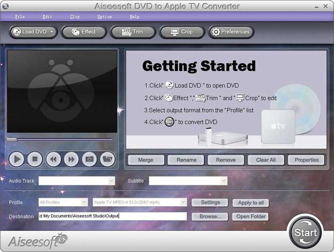 Aiseesoft DVD to Apple TV Converter Screenshot 1
