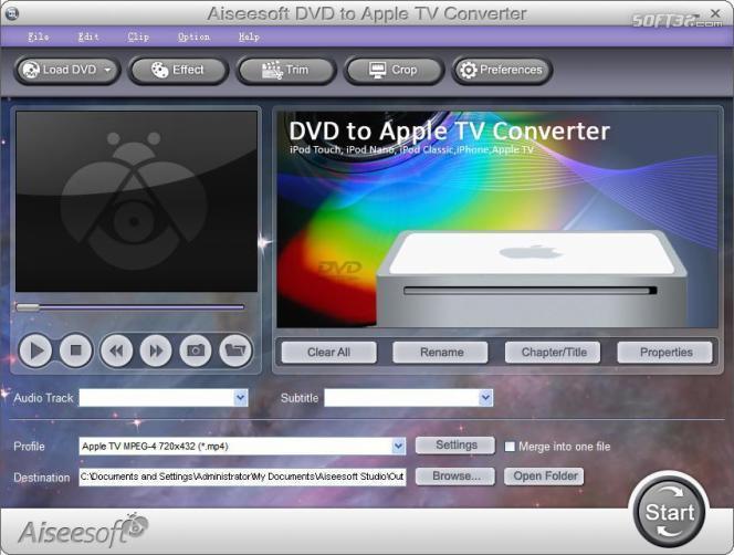 Aiseesoft DVD to Apple TV Converter Screenshot 2