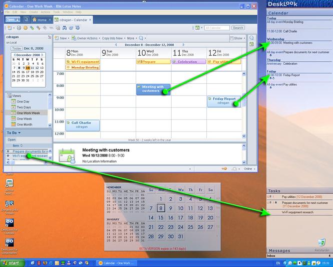 DeskLook for Lotus Notes Screenshot 1