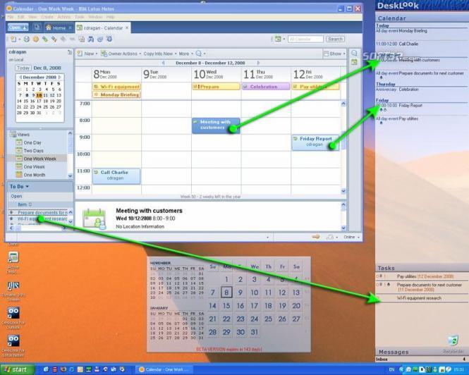 DeskLook for Lotus Notes Screenshot 2