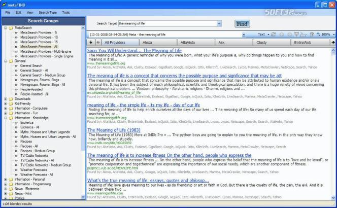 MetaFind Screenshot