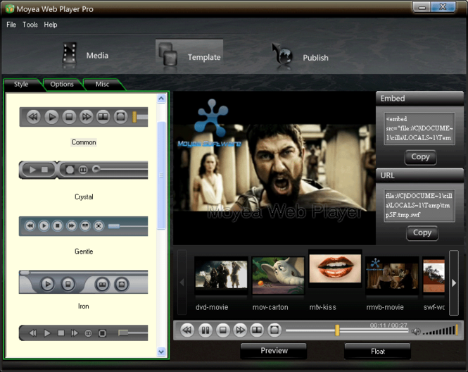 Moyea Web Player Pro Screenshot