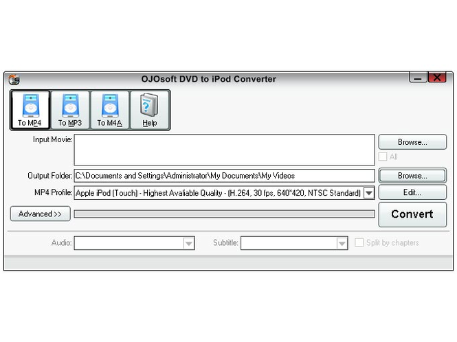 OJOsoft DVD to iPod Converter Screenshot