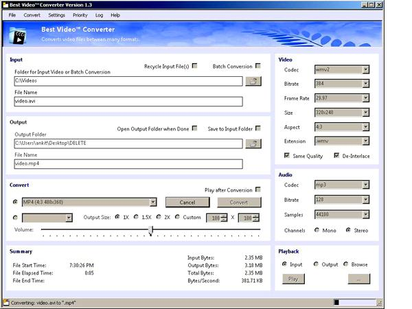 Video Audio Converter Software Screenshot