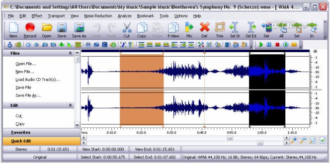 Mp3 Editor Deluxe Screenshot 2