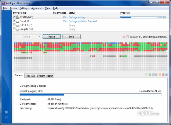 Auslogics Disk Defrag Screenshot 2