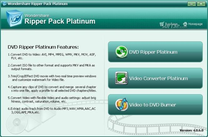 Wondershare Ripper Pack Platinum Screenshot 1