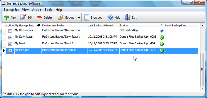 EzySoft Instant Backup Software Screenshot