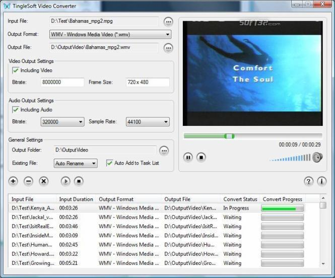 TingleSoft Zune Converter Screenshot