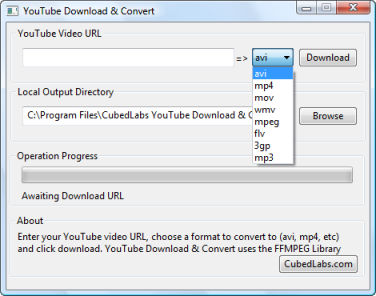 YouTube Download&Convert Screenshot