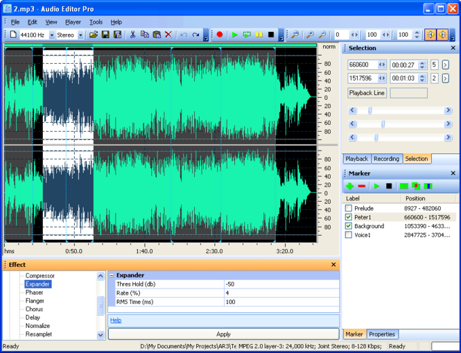 Audio Editor Pro 3 Basic Screenshot