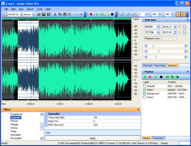 Audio Editor Pro 3 Basic Screenshot 1
