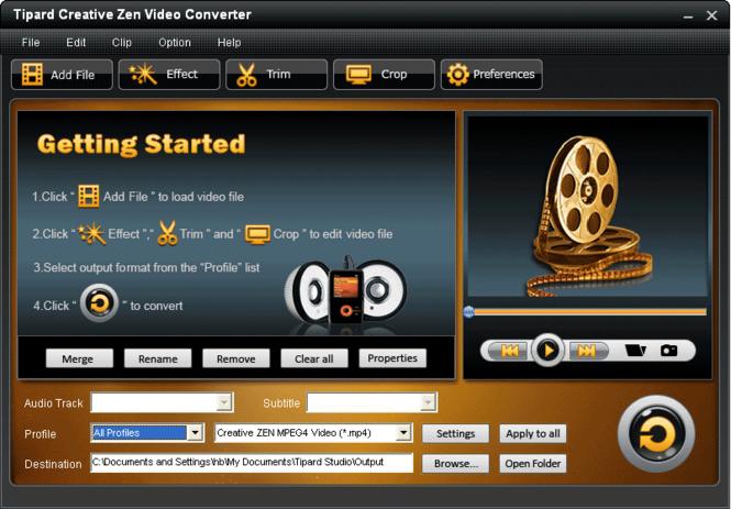 Tipard Creative Zen Video Converter Screenshot 2