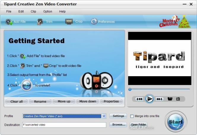 Tipard Creative Zen Video Converter Screenshot 3