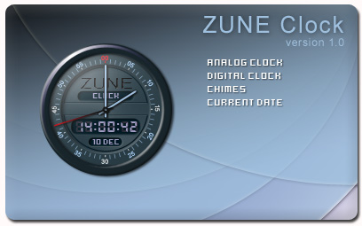 Zune Clock Screenshot