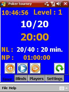Poker tourney manager Screenshot 1