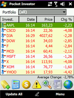 Acquasys Pocket Investor Screenshot 3