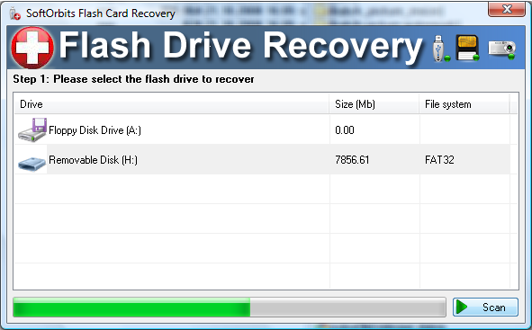 SoftOrbits Flash Drive Recovery Screenshot 1