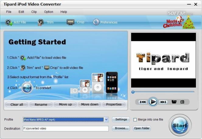 Tipard iPod Video Converter Screenshot 3
