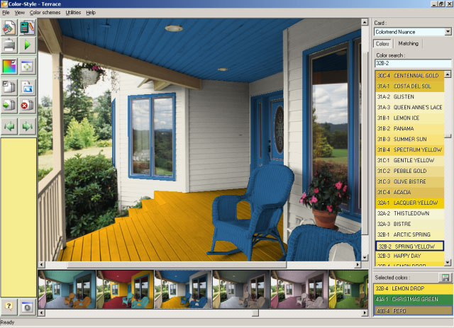 Color Style Studio exterior paint colors Screenshot