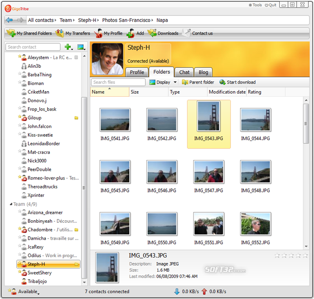 GigaTribe Screenshot 2