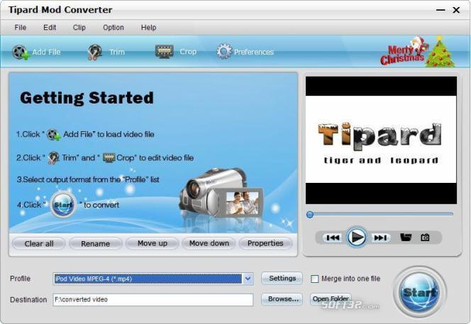 Tipard Mod Converter Screenshot 2