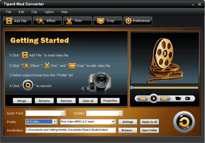 Tipard Mod Converter Screenshot 3